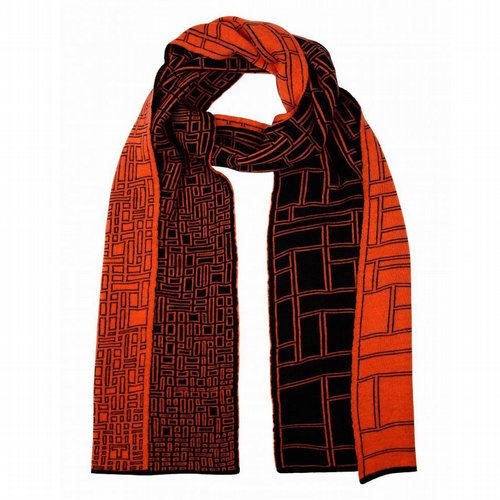 Thijs Verhaar - Thesis Scarf - Black/Orange